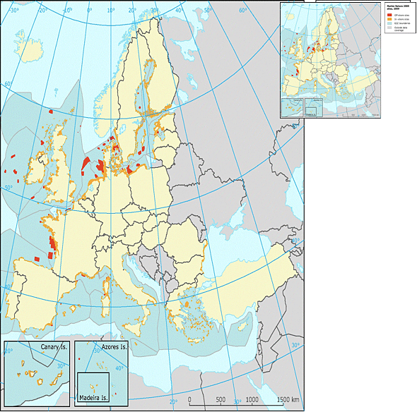 Fig. 2 illustrates that at this time, the designation of Natura 2000 sites in offshore waters is very patchy and insufficient.