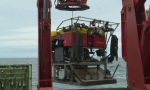 launching the ROV ISIS